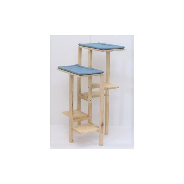 木製キャットタワー高さ110cm天然木無垢材猫置き型家具おしゃれシンプルインテリア北欧掃除がしやすい<組立家具/NATURALS