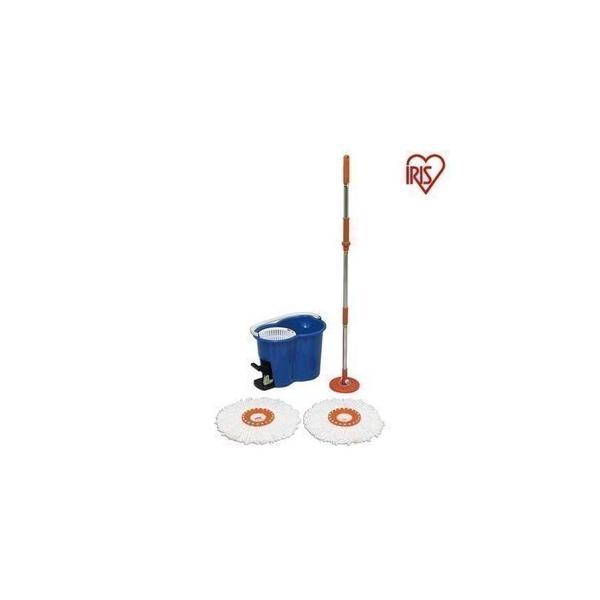 回転モップ モップ 掃除 掃除用品 モップ アイリスオーヤマ ペット フローリング 畳 床 バケツ 水拭き 絞り機 モップクリーナー回転モップ KMO-450