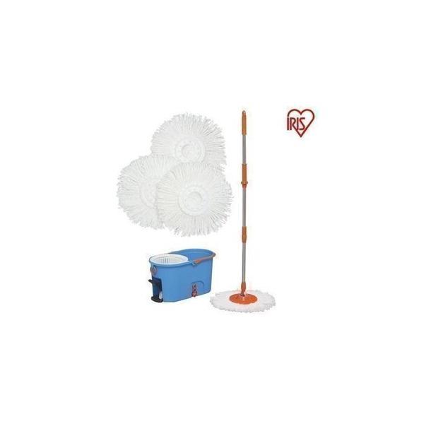 回転モップ モップ 掃除 掃除用品 アイリスオーヤマ フローリング 畳 床 バケツ 水拭き ペットの粗相 絞り機 モップクリーナー 回転モップ洗浄付 KMO-540S