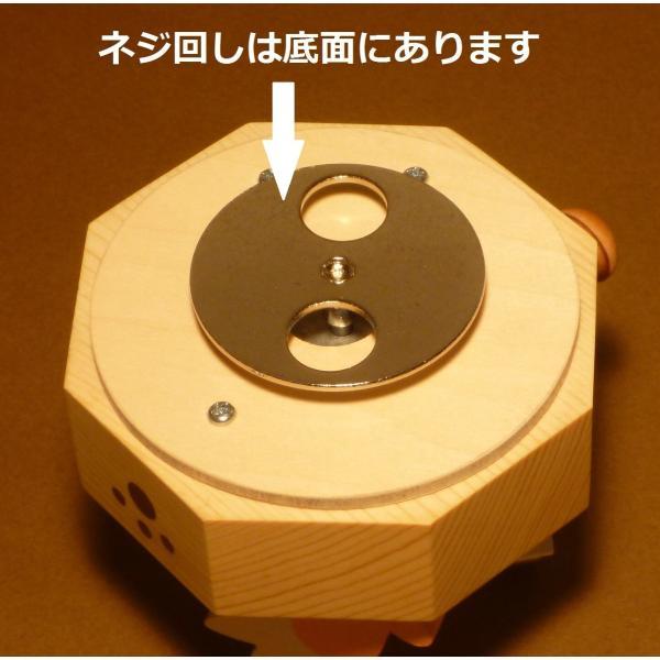 ネコがメッセージを伝える木製回転オルゴール|nyanmaru-kobo|06