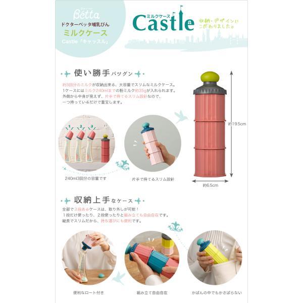 4cba4ea4c7b461 ... betta ベッタ ミルクケース Castle キャッスル 日本製 ロート付き 携帯用 旅行 粉ミルク容器 調