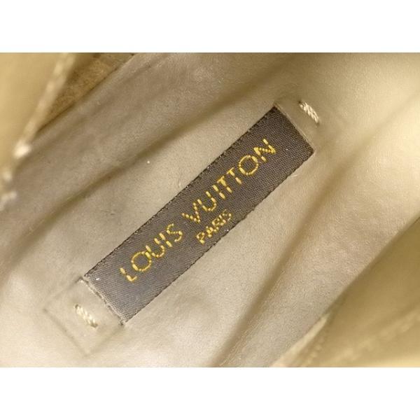 【値下げしました】 中古 ルイ ヴィトン ブーツ レディース カーキ系