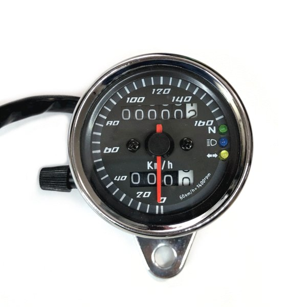 LED スピードメーター 汎用 機械式 アナログメーター  12V メッキ |o-o-shop|02
