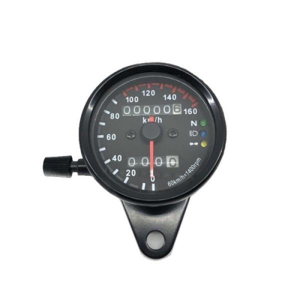 LED スピードメーター 汎用 機械式 アナログメーター  12V メッキ |o-o-shop|03