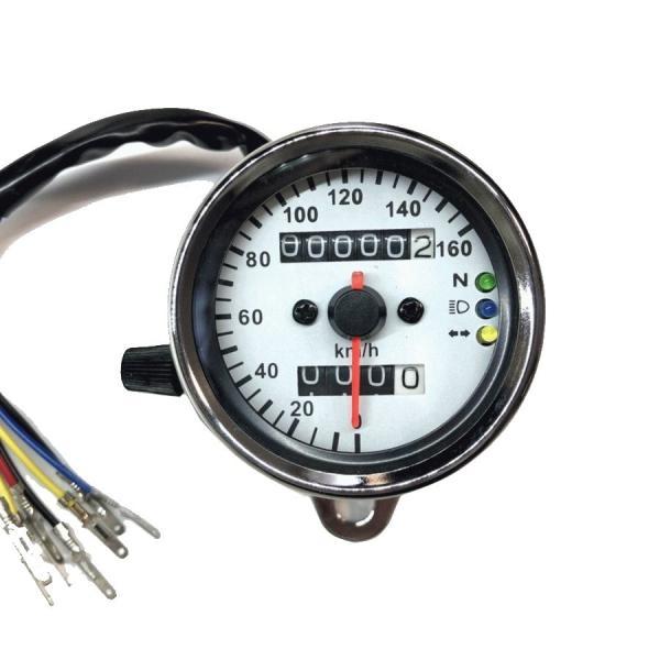 LED スピードメーター 汎用 機械式 アナログメーター  12V メッキ |o-o-shop|04