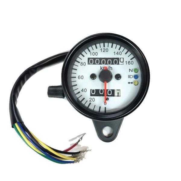 LED スピードメーター 汎用 機械式 アナログメーター  12V メッキ |o-o-shop|05