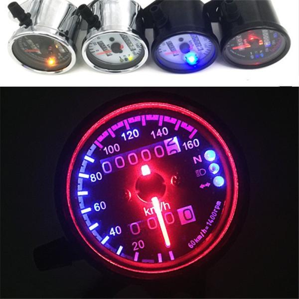 LED スピードメーター 汎用 機械式 アナログメーター  12V メッキ |o-o-shop|06