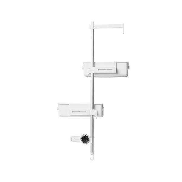 umbra シャワーラック シャワーキャディー バスラック ホワイト/アルミニウム 74.7×35.2×11.9cm FLIPSIDE 2100949|o-p-s|07