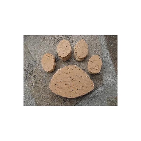 手づくりレンガ 足あと完成品 サイズ約21cm×20cm×3cm ブラウン レッド ベージュ|o-tamatebako|05