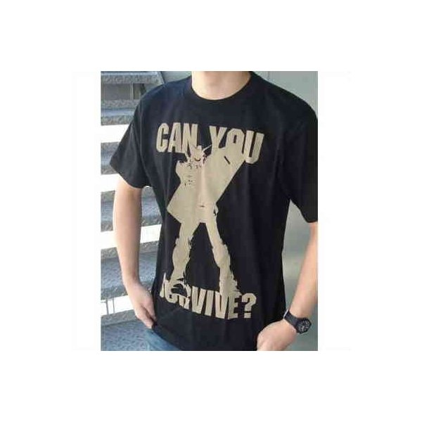 機動戦士ガンダム Tシャツ can you survive? BLACK-M【予約 再販 11月上旬 発売予定】