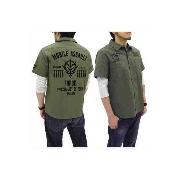 機動戦士ガンダム ワッペンベースワークシャツ 突撃機動軍 MOSS-M【予約 再販 11月上旬 発売予定】
