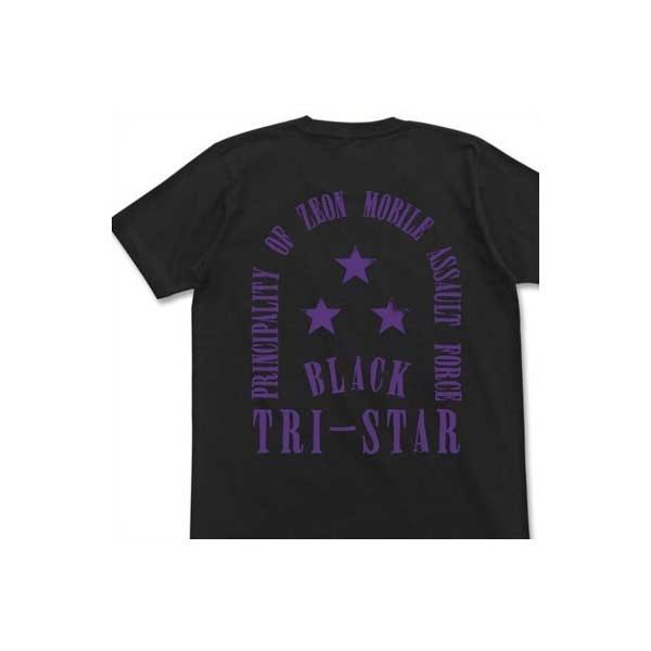 機動戦士ガンダム Tシャツ BLACK TRI-STAR BLACK-XL【予約 再販 11月上旬 発売予定】