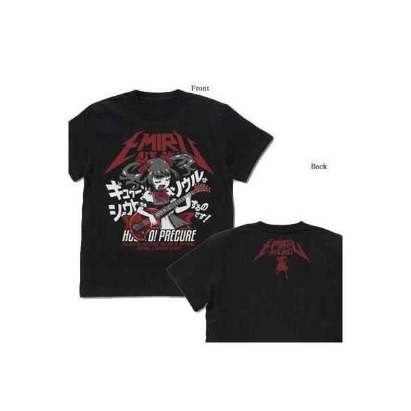 HuGっと!プリキュア ギュイーンとソウルがシャウトするえみるのTシャツ BLACK-S【予約 再販 12月上旬 発売予定】