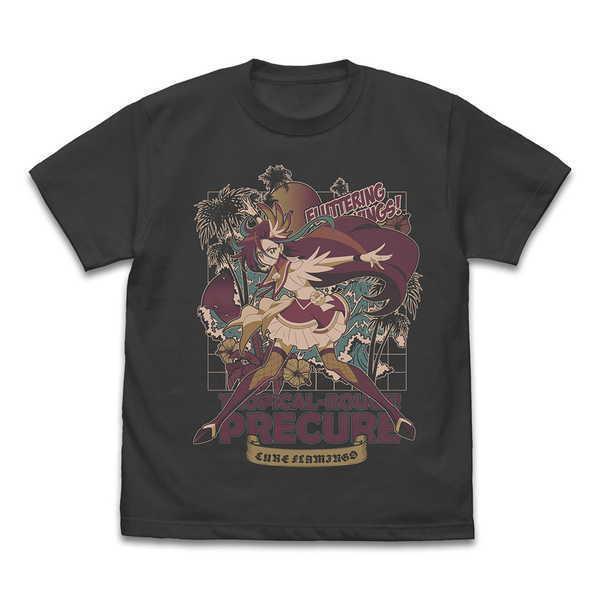 トロピカル〜ジュ!プリキュア Tシャツ キュアフラミンゴ SUMI-XL【予約 09/下 発売予定】
