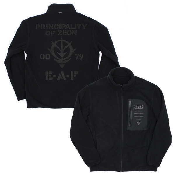 機動戦士ガンダム フリースジャケット ジオン地球方面軍 BLACK-XL【予約 10/下 発売予定】