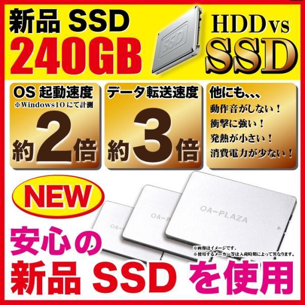 中古パソコン ノートパソコン 本体 ノートPC Windows10 新品SSD240GB メモリ8GB DVDドライブ Celeron office付き A4 15.6型 NEC Versapro 本体 アウトレット|oa-plaza|03