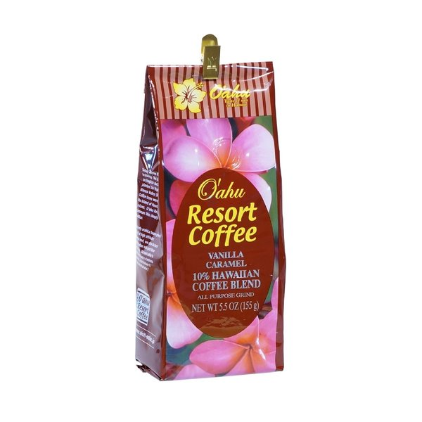 【オアフリゾートコーヒー】オリジナルポーチ バニラキャラメル155g×1個(粉) oahu-resort-coffee 04