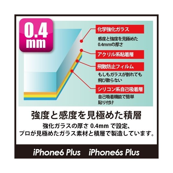 保護ガラス Protect Glass for iPhone 6s Plus/iPhone 6 Plus 日本製画面保護ガラスフィルム オオアサ電子|oasaelec|05