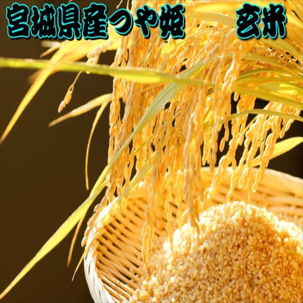 新米 30kg 玄米 つや姫 一等米 宮城県産 令和3年産 15kg×2袋