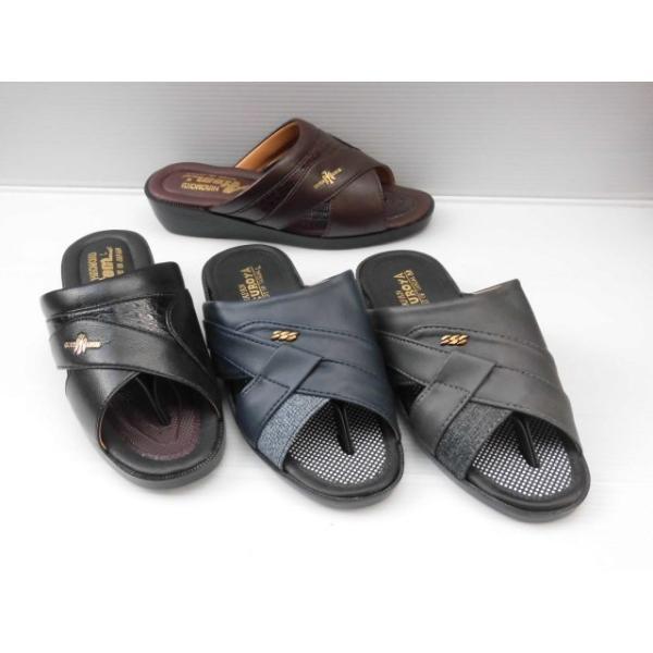 色柄メーカーお任せ水濡れOK日本製(LL〜3L)フクロヤ袋屋ダイカハナオ付ウエッジモード履きメンズサンダルヘップモード履きつっか