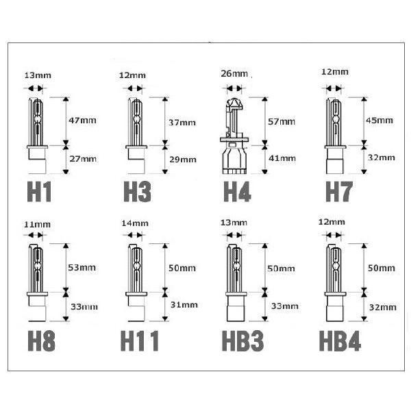 HIDキット 12V 35W (H1,H3,H7,H8,H11,HB3,HB4) 6000K 8000K 10000K アルミ極薄型バラスト|obara-jyusetu|06