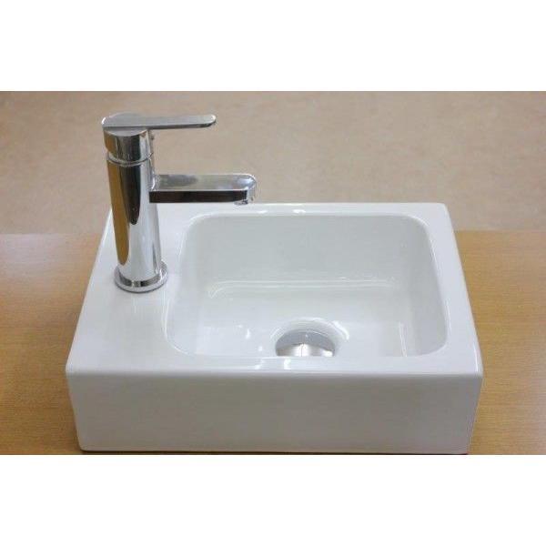 陶器洗面ボウル 洗面ボール 小さい 角型洗面器 手洗い鉢 手洗器 小さい 洗面器|obara-jyusetu|02