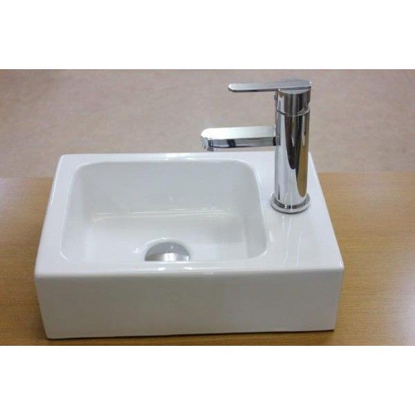 陶器洗面ボウル 洗面ボール 小さい 角型洗面器 手洗い鉢 手洗器 小さい 洗面器|obara-jyusetu|03