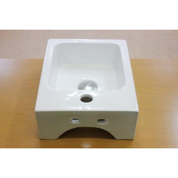 陶器洗面ボウル 洗面ボール 小さい 角型洗面器 手洗い鉢 手洗器 小さい 洗面器|obara-jyusetu|04