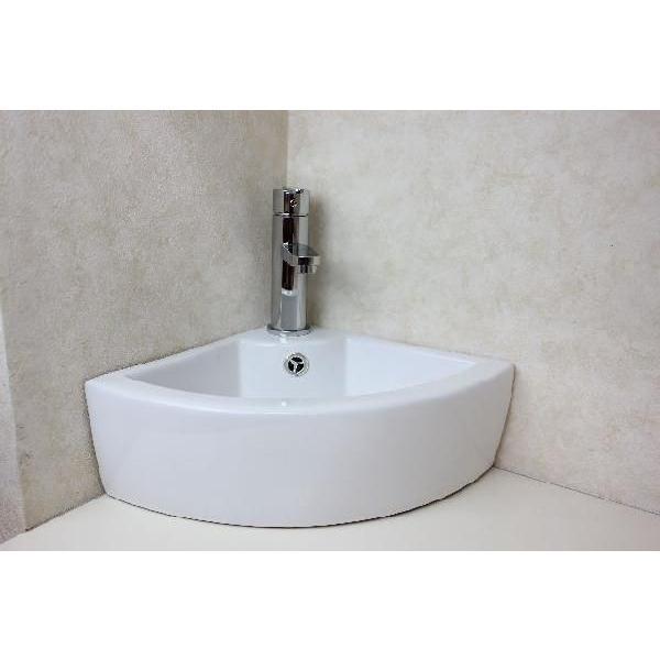 陶器洗面ボウル  洗面ボール 手洗い鉢 手洗い器 小さい 洗面器 コーナー設置|obara-jyusetu|02
