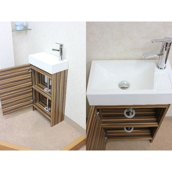 洗面台 洗面化粧台 幅445  洗面器 収納 1面鏡 洗面化粧台ミラーセット|obara-jyusetu|02