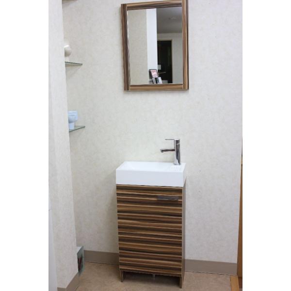 洗面台 洗面化粧台 幅445  洗面器 収納 1面鏡 洗面化粧台ミラーセット|obara-jyusetu|04