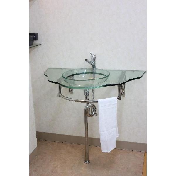 ガラス洗面ボウル 洗面ボール 洗面器 手洗い鉢 手洗い 洗面器|obara-jyusetu