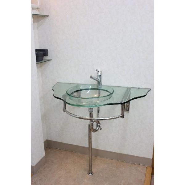 ガラス洗面ボウル 洗面ボール 洗面器 手洗い鉢 手洗い 洗面器|obara-jyusetu|02