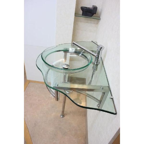ガラス洗面ボウル 洗面ボール 洗面器 手洗い鉢 手洗い 洗面器|obara-jyusetu|03