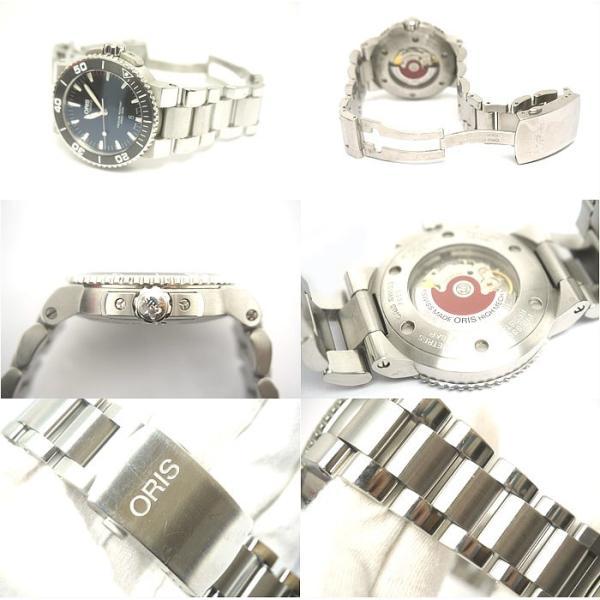 中古 美品 ORIS オリス アクイス デイト メンズ 腕時計 自動巻 01 733 7653 4154-07 4 26 34EB|obatays|02