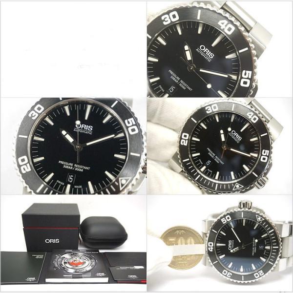 中古 美品 ORIS オリス アクイス デイト メンズ 腕時計 自動巻 01 733 7653 4154-07 4 26 34EB|obatays|03
