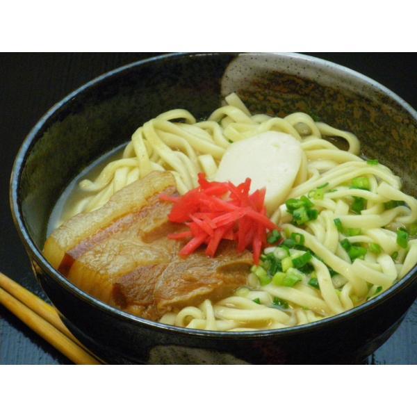 沖縄そば 1kg(5・6人前) 自社製麺 【クール便発送】送料別|obc7816|02