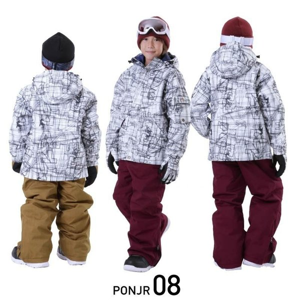 限定価格 スノーボードウェア キッズ スノーウェア スキーウェア スノボ 上下セット ジャケット パンツ 男子 女子 PONJR-107M 型落ち|oc-sports|07