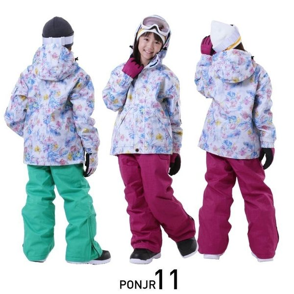 限定価格 スノーボードウェア キッズ スノーウェア スキーウェア スノボ 上下セット ジャケット パンツ 男子 女子 PONJR-107M 型落ち|oc-sports|09