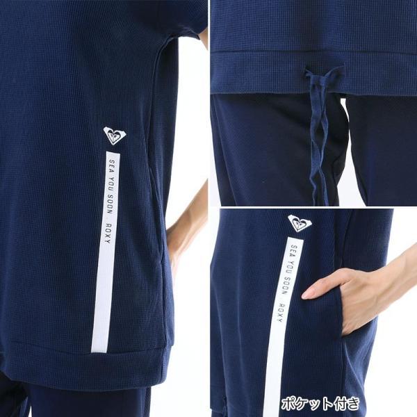 ROXY/ロキシー レディース 半袖 Tシャツ パーカー フード付き スポーツ ウェア フィットネス ヨガ ジム 運動 速乾 UVカット RST181523|oc-sports|07