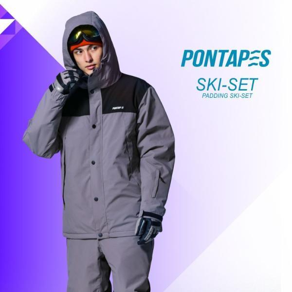 スキーウェア メンズ レディース スノーボードウェア スキーウェア スノボ 上下セット ジャケット パンツ POSKI-128|oc-sports|06