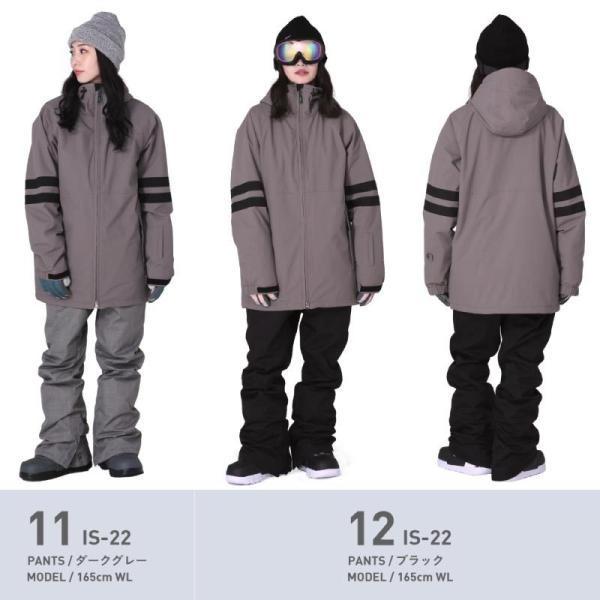 スノーボードウェア レディース スノーウェア スキーウェア スノボ 上下セット ジャケット パンツ プルオーバー アノラック IS6-SET|oc-sports|12