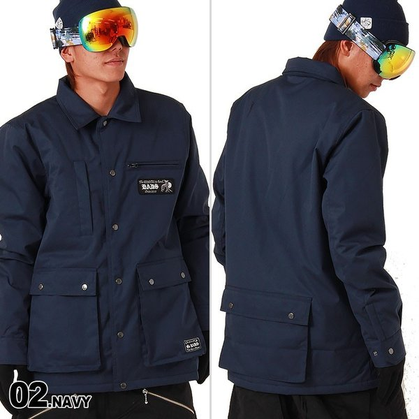 BADS/バッズ メンズ スノーボードウェア ジャケット スノボウェア スノボーウェア スノボウエア コーチジャケット スノージャケット スキーウェア 17BA2100|oc-sports|03