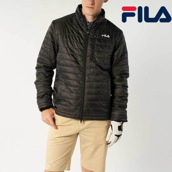 【9/18~20ポイント15倍】FILA GOLF 薄中綿 ブルゾン トップスジャケット メンズ 秋冬 アウトレット
