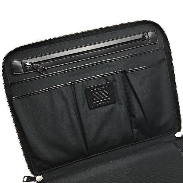 fde3069c1c87 ... コーチ メンズ クラッチバッグ COACH MENS 本革 レザー iPad タブレットケース 黒 ブラック