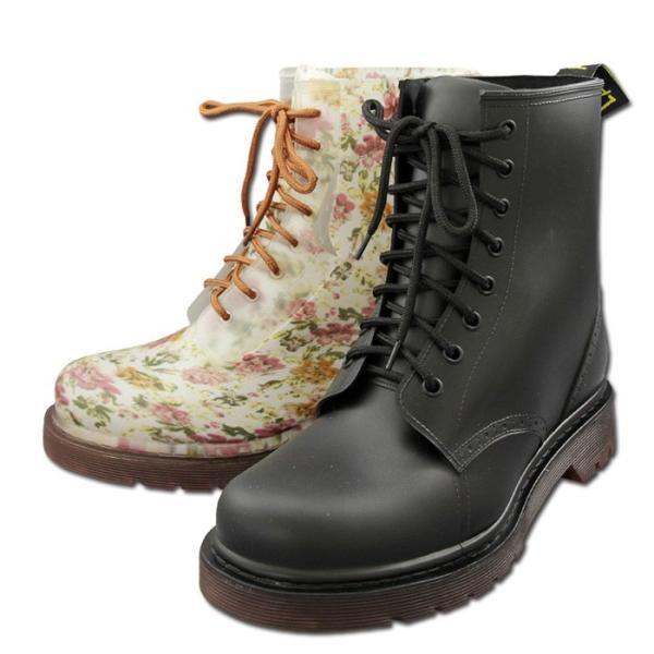 レインブーツ レディース 防水 レインシューズ  雨靴 長靴 ラバーブーツ ショート丈 ブラック レッド ダークブラウン フラワー PAANI LAPULE PL6301