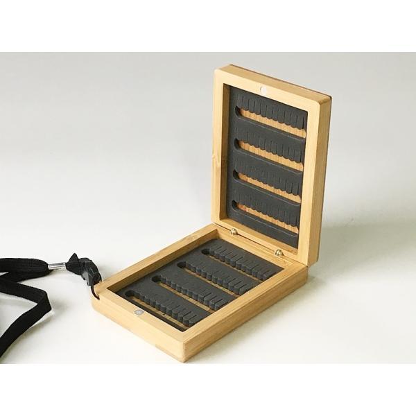 バンブー製 ミニ フライボックス 竹製 毛鉤入れ テンカラ FLY BOX WOD トンキーケーン