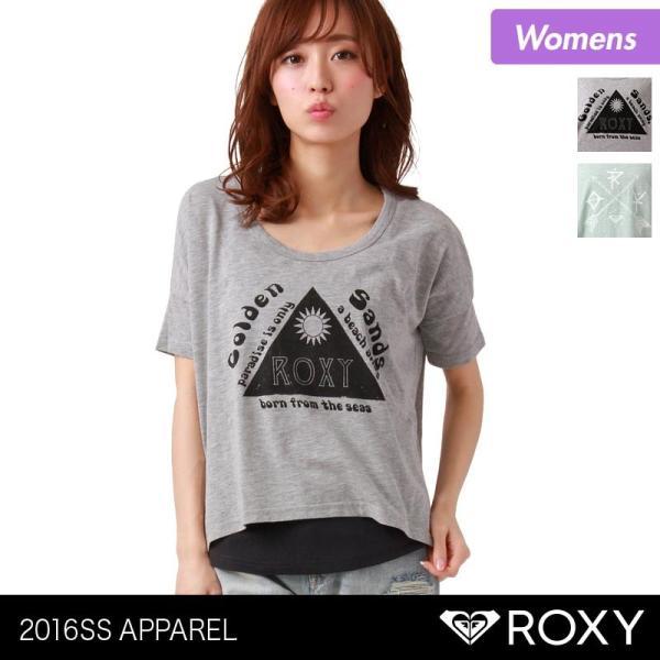 ROXY/ロキシー レディース 半袖Tシャツ ティーシャツ プリント Uネック インナーキャミソール付き GRJKT03020|ocstyle