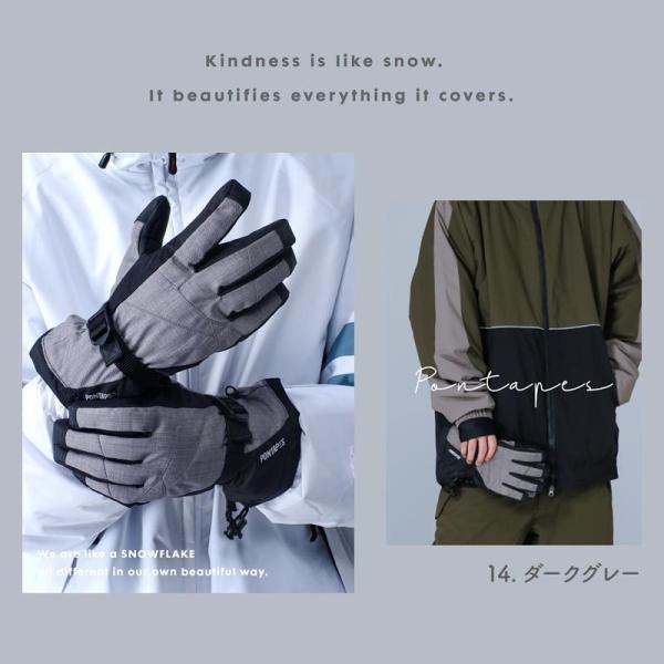 PONTAPES/ポンタペス メンズ&レディース スノーボード グローブ スノーグローブ スノー用グローブ 手袋 手ぶくろ てぶくろ スキーグローブ PG-04|ocstyle|04