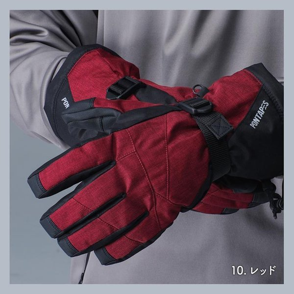 PONTAPES/ポンタペス メンズ&レディース スノーボード グローブ スノーグローブ スノー用グローブ 手袋 手ぶくろ てぶくろ スキーグローブ PG-04|ocstyle|05